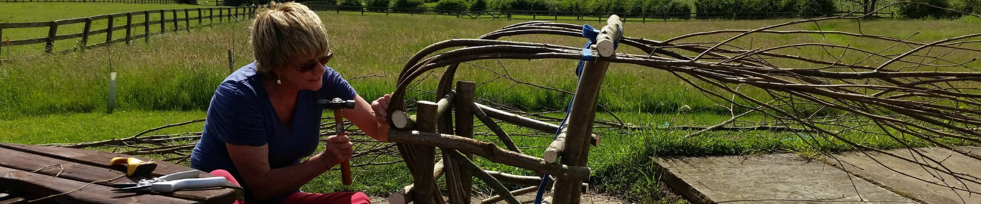 Making a Bentwood Chair outside with Countryside views