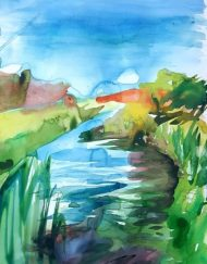 Watercolour by Lake