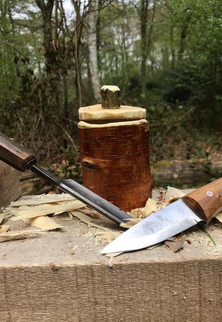 Wooden Shrink Pot